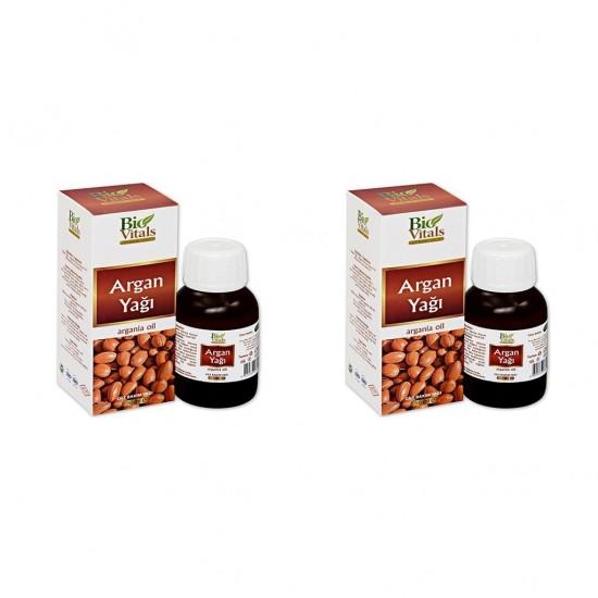Pazariz 2 Adet Bio Vitals Argan Yağı 50 Ml + 50 Ml
