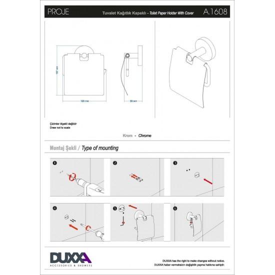 DUXXA Proje Kapaklı Tuvalet Kağıtlığı