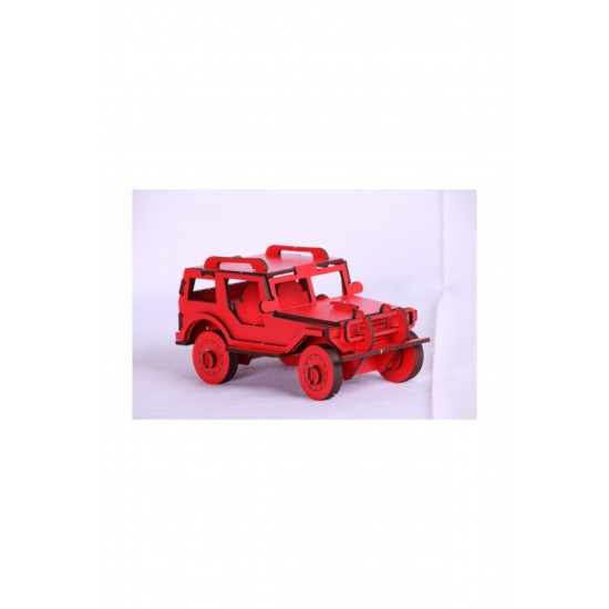 Pazariz 3d Puzzle Üç Boyutlu Puzzle Jeep Araba  64 Parça