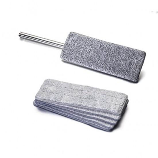 Pazariz   Mop Mikrofiber Tablet Mop Yedek Bezi 4 Adet Gri 12 x 33 CM