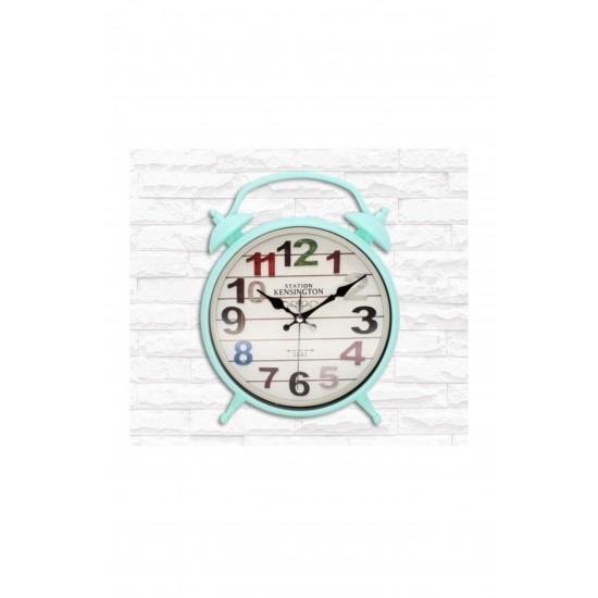 Pazariz Çocuk Odası, Çalar Saat, Duvar Saati, Mavi Renk Dekor Saatler