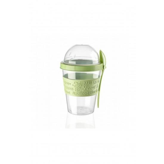 Pazariz Ap-9199 Kaşıklı Yoğurt Kabı Yeşil