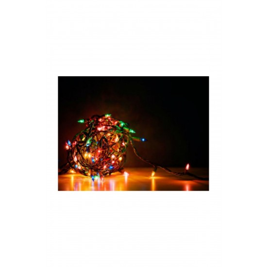 Pazariz 100 Ledli Yeşil Yılbaşı Ağacı Işığı Led Ampül