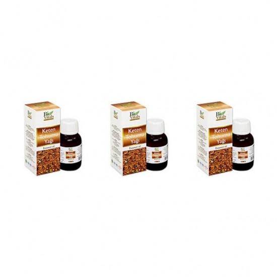 Pazariz 3 Adet Bio Vitals Keten Tohumu Yağı 50 Ml + 50 Ml + 50 Ml
