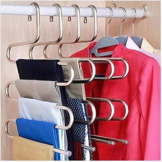 Pazariz  Metal Pantolon Pijama Askısı 5 Katlı Dolap İçi Düzenleyic