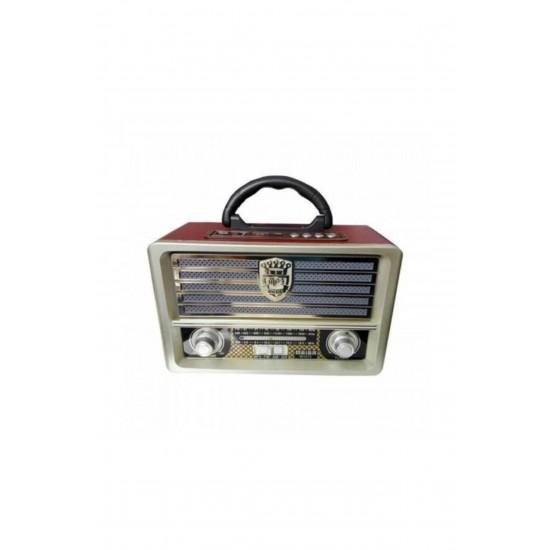 Pazariz Bluetooth Şarjlı Nostalji Görünümlü Radyo