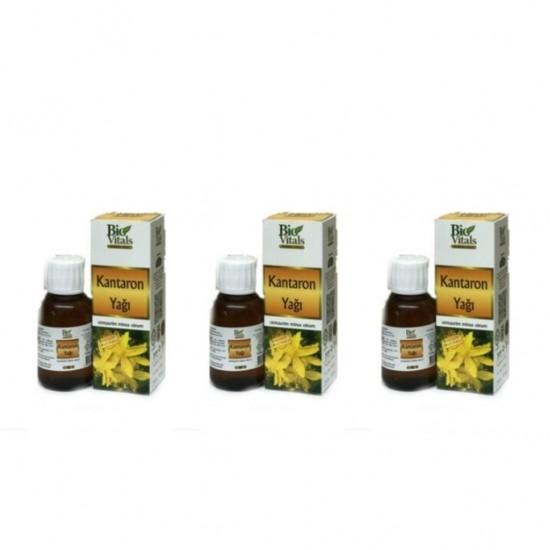 Pazariz 3 Adet Bio Vitals Sarı Kantaron Yağı 50 Ml + 50 Ml + 50 Ml