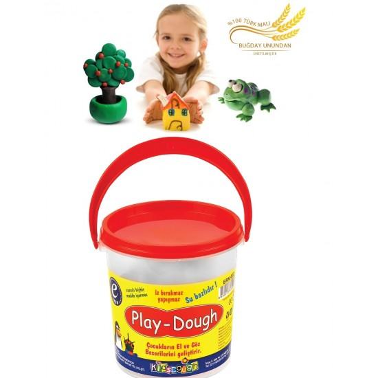 Pazariz 6 Renkli Buğday Unu Oyun Hamuru Kova - Play Dough