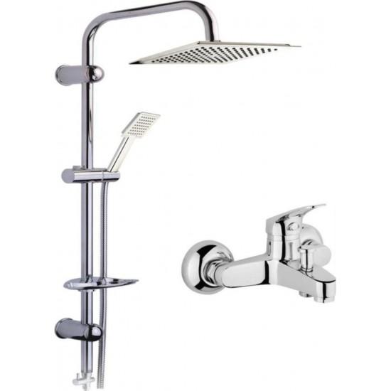 Hsa Banyo Duş Bataryası Krom Duş Seti Takımı