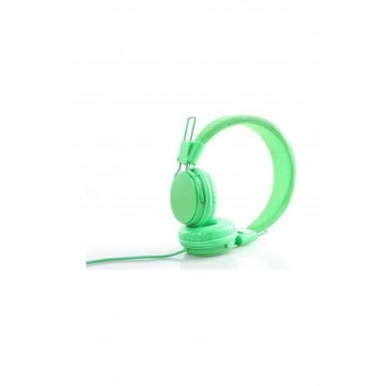 Pazariz Color Ep05 Kafa Bantlı Bluetooth Kulaklık - Yeşil