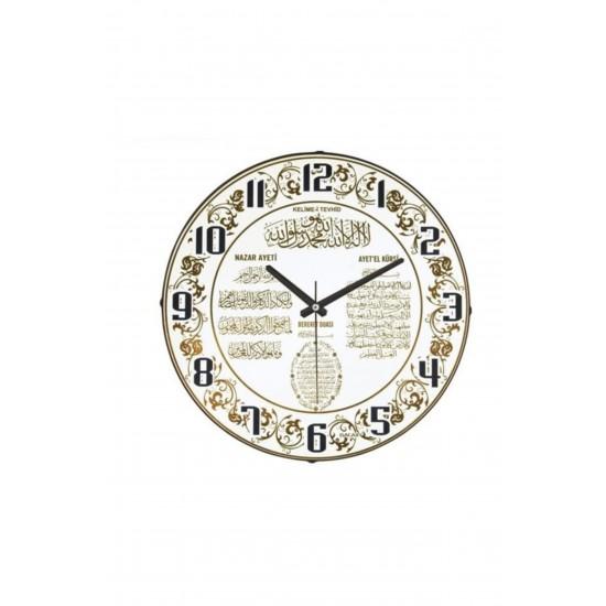 Pazariz Dekoratif Bombeli Cam Duvar Saati 1968 - Tevhıd