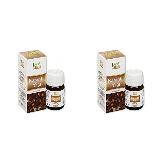 2 Adet Bio Vitals Karanfil Yağı 20 ml+ 20 ml