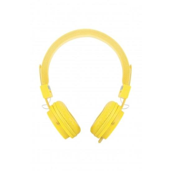 Pazariz Color Ep05 Kafa Bantlı Bluetooth Kulaklık -sarı