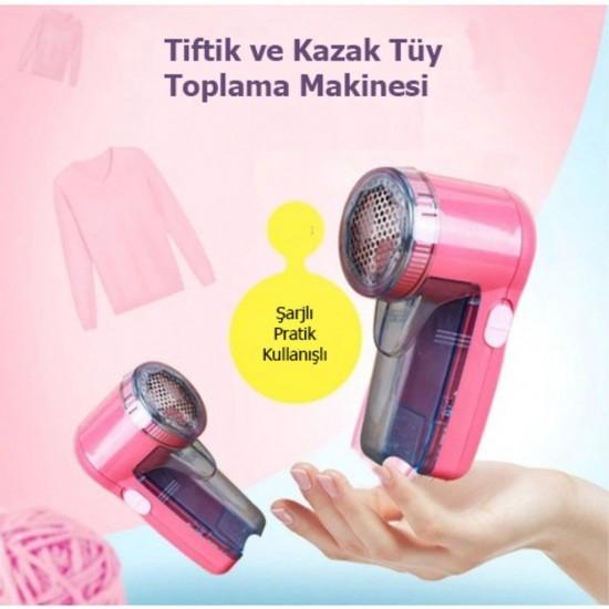 Pazariz  Şarjlı Kazak Tüy Toplama Makinesi, giysi tüy temizleme ma