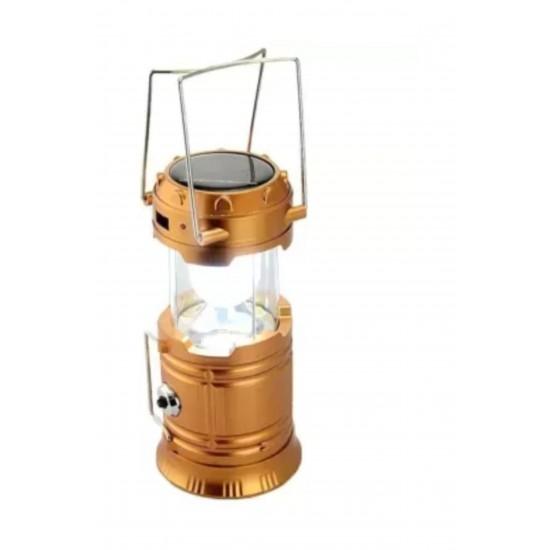 Pazariz  Şarjlı Kamp Lambası Güneş Enerjili Kızaklı Kamp Feneri Le