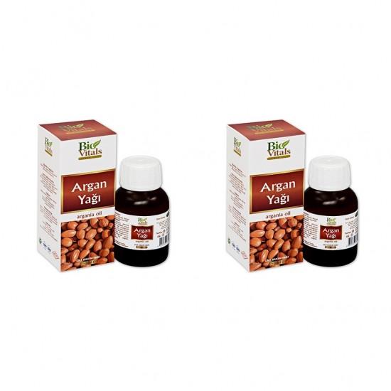 2 Adet Bio Vitals Argan Yağı 50 Ml + 50 Ml