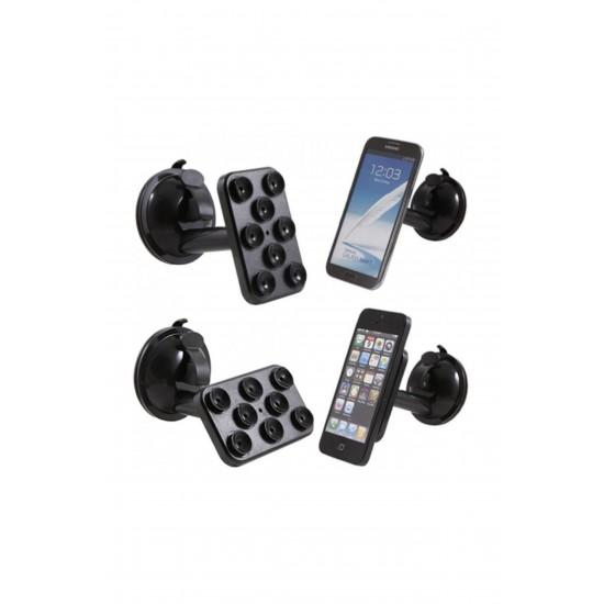 Pazariz Araç İçi Telefon-Tablet-Navigasyon Tutucu-(8 Vantuzlu Döner B