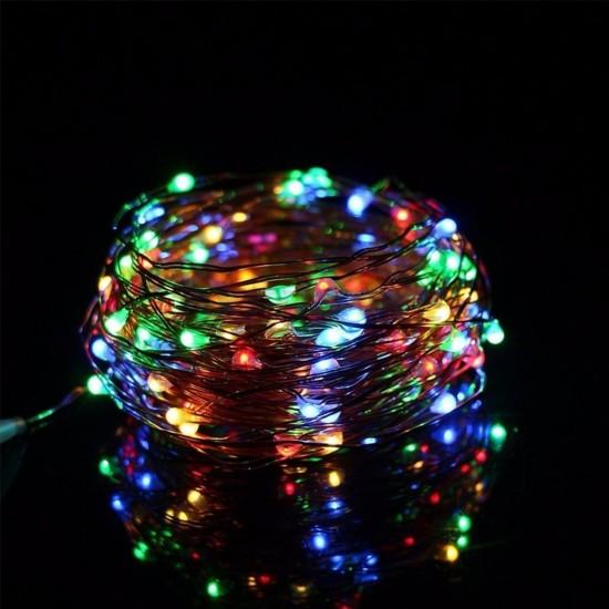 Pazariz  Pilli Renkli Peri Led Işık Dekoratif Aydınlatma 5 Metre R