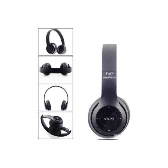 Pazariz Bluetooth Kulaklık Mp3 Fm Solo 2 Beats Model Kulak Üstü Siyah