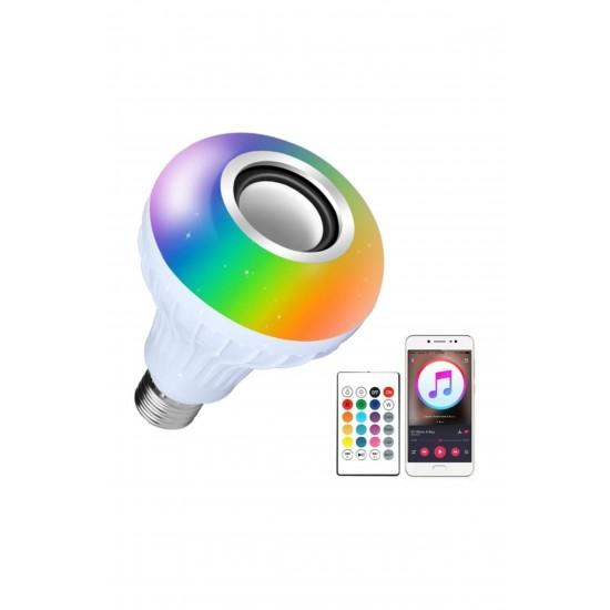 Pazariz Gece Lambası Kumandalı Çok Fonksiyonlu Bluetoothlu Hoparlörlü Akıllı Ampul Lamba
