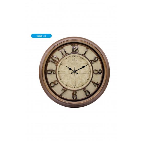 Pazariz 1963-c Premium Kabartma Rakamlı Duvar Saati