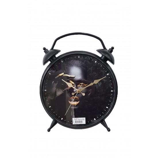 Pazariz D-300-21 Dekoratif Masa Duvar Saati Siyah