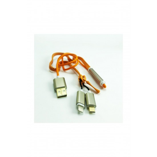 Pazariz  ios Samsung Zipper (Fermuar) Kablo
