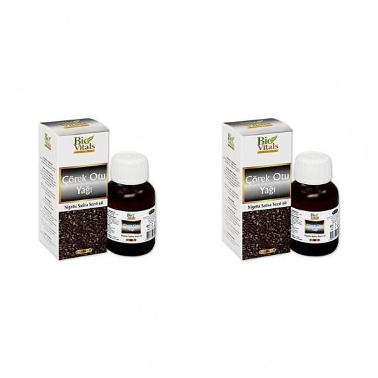 2 Adet Bio Vitals Çörek Otu Yağı Çörekotu Yağı 50 Ml + 50 Ml