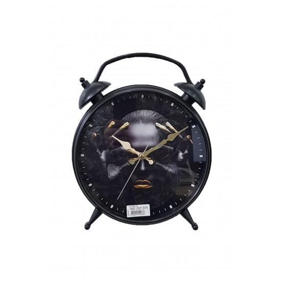 Pazariz D-300-22 Dekoratif Masa Duvar Saati Siyah