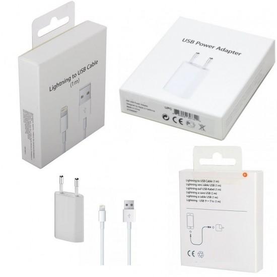 Pazariz ios ios 6 5 7 8 X Şarj Aleti Usb Kablo Adaptör Lightning