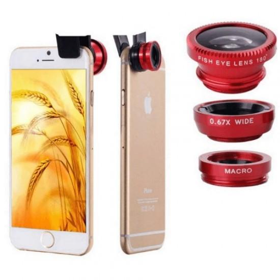 Pazariz Balık Gözü Geniş Açı Makro Lens Tüm Telefonlar İçin