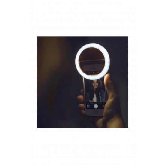 Pazariz  Şarjlı Selfie, Öz Çekim Işığı, Selfi Işığı, Ön Kamera Led Işığı