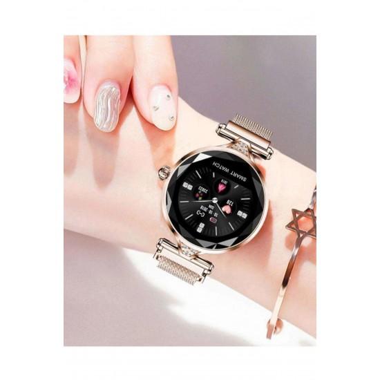 Pazariz H1 Bayan Akıllı Saat Su Geçirmez Kalori,adımiphone Samsung Htc Lg