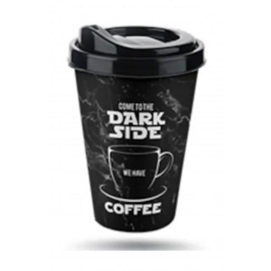 Pazariz   Coffe Plastik Bardak 400 Ml (dark Side), Kahve Çay Bardağı